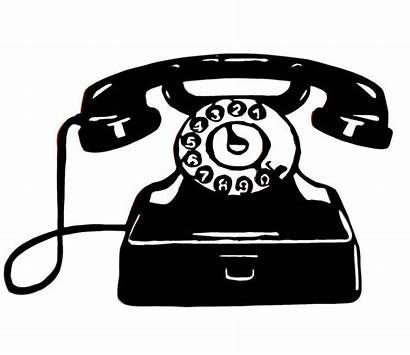 Telephone Clipart Clip Phone Silhouette Bing Retro