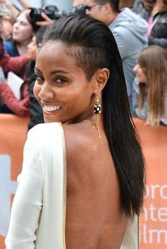 jada pinketts long hair ponytail mohawk  shaved sides