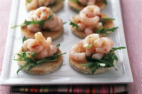 easy no cook canapes chilli prawn toasts recipe goodtoknow