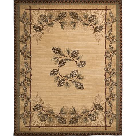 lowes rugs 8x10 shop balta carlswell beige indoor lodge area rug common