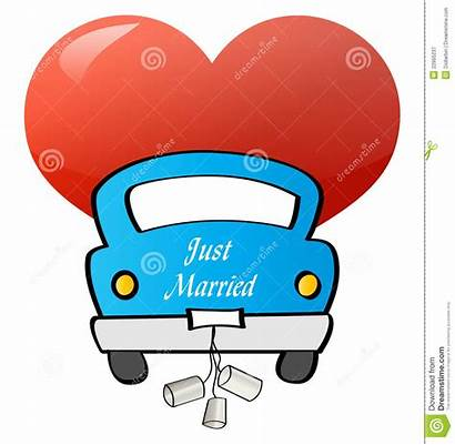 Married Gerade Enkel Geheiratet Appena Sposato Automobile
