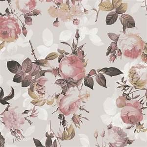 Klebefolie Vintage Blumen Muster mit Rosen