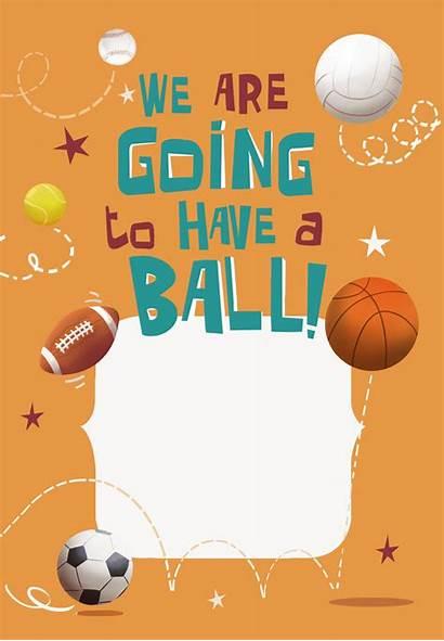 Birthday Sports Printable Invitation Invitations Games Template