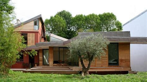 extension en bois d une maison extension en bois et sur 233 l 233 vation d une maison ancienne