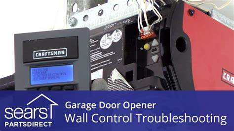 garage door opener goes up but not garage door opener doesn t work wall