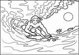 Surfing Coloring Pages Print Printable Books sketch template