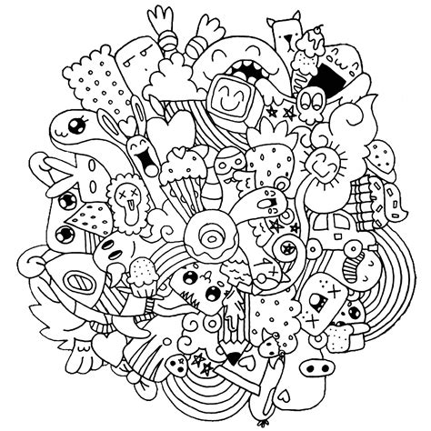 Coloring Doodle by Strange Creatures Doodle Doodling Coloring Pages