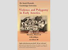Dr Sarah Pearsall – Violence and Polygamy in Early