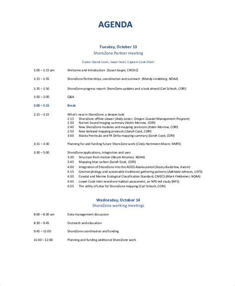 10+ Business Meeting Agenda Templates  Free Sample