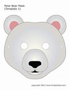 bear mask template With polar bear face template