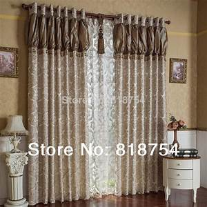 Home curtain design living room curtains luxury jacquard for Curtains for bedroom windows with designs 2015