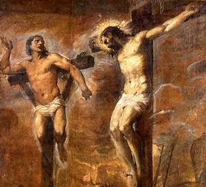 """""""Gesù Cristo e il buon ladrone"""" di Tiziano 1477 – 1576"""