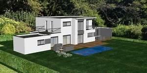 maison originale avec piscine toit plat With photo maison toit plat 4 de maison originale avec piscine toit plat e4