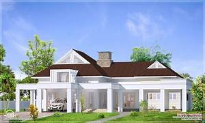 Low Roof Single Story Bungalow Single Story Bungalow House