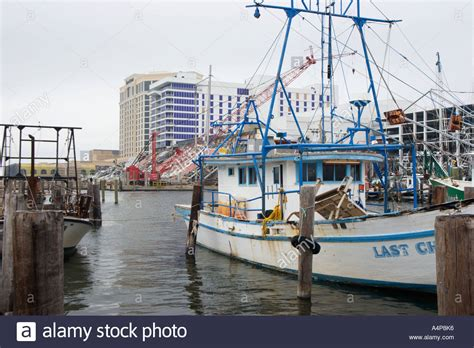 Shrimp Boat Biloxi Ms by Shrimp Boats In Fishing Harbor Next To Destroyed Casino In