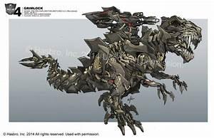 Grimlock's Dinosaur & Robot Modes - TRANSFORMERS 4 Concept Art