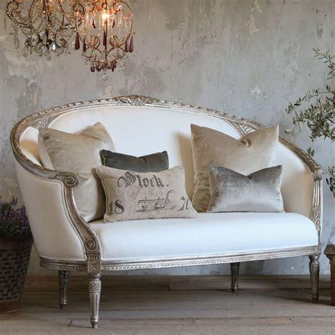 canapé shabby chic eloquence versailles canape sofa antique silver