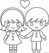 Coloring Couple Valentine Cartoon Printable Couples Valentines Drawing Cartoons Drawings Clipart Adults Freekidscoloringpage Para Stick Dia Boy Popular sketch template