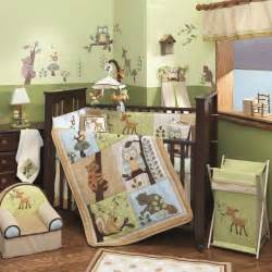 amazon com lambs enchanted forest 6 pc baby crib bedding set green baby baby