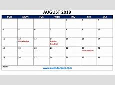 Free 2019 Holidays Printable Calendar Monthly Templates