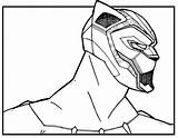 Panther Coloring Pages Marvel Printable Superhero Cool Colouring Avengers Preschool Sheets Super Print Movie Books Printables Adult Comic Activities Cartoon sketch template
