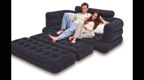intex pull  sofa inflatable bed      queen youtube