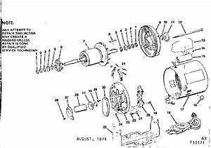 Craftsman Craftsman 1 H P  Capacitor Start A C  Motor Parts