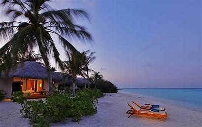 Tropical Beach Evening Nature Wallpapers Scenes Landscape
