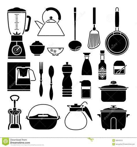 silhouette de vecteur de collection d 39 outil de cuisine