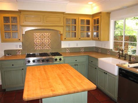 spanish colonial revival traditional kitchen san