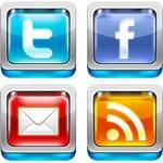 Social Icons 3d Icon Psd Shiny Socialmedia