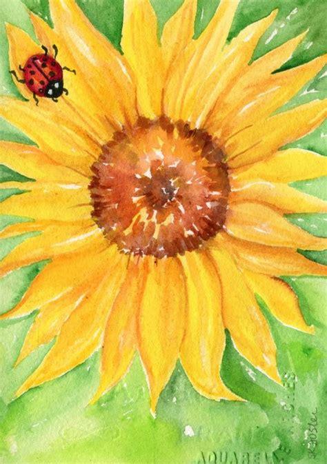 lady bug flower art  sunflowers  pinterest