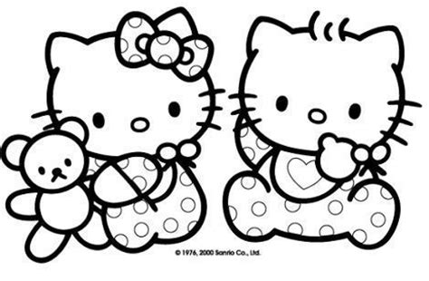 dibujos de  kitty  colorear  kitty en