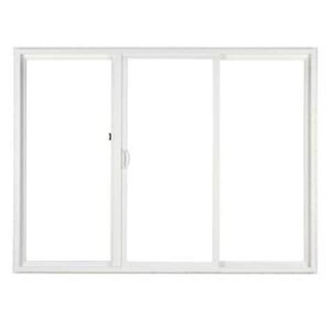 simonton patio doors home depot simonton 120 in x 80 in 3 panel contemporary vinyl