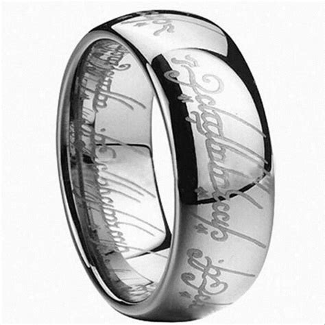 lord of the rings the one ring lotr stainless steel wedding aragon wedding ring ebay