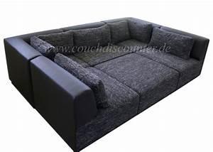 Sofa Armlehne Verstellbar : couchgarnitur sofa wohnlandschaft verstellbar in strukturstoff 2 farbig neu ovp ebay ~ Indierocktalk.com Haus und Dekorationen