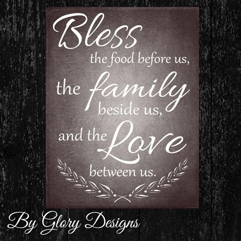 kitchen printable bless  food   quote