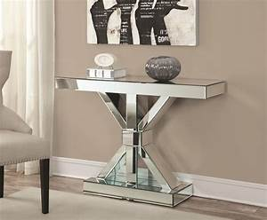 Accent Cabinets Thick Mirrored Console Table Quality