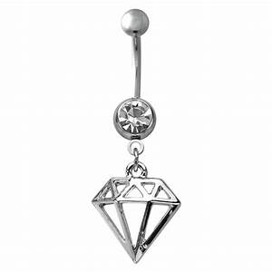 Navel Body Jewelry - Diamond Rhinestone Dangle Belly ...