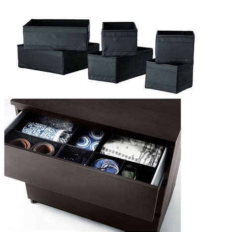 ikea skubb storage boxdrawer organizerdivider black
