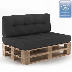 Coussin Palette Sofa Oreiller Intrieur Anthracite