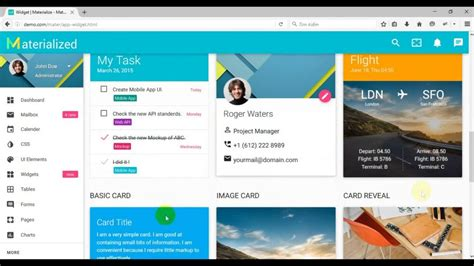 materialize templates fullpsd materialize material design admin template free