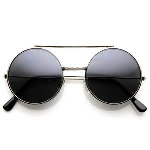 Limited Edition Color Flip-Up Lens Round Circle Django Sunglasses