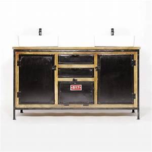 Meuble Salle De Bain Style Industriel : 11 meubles industriels pour la salle de bains ~ Melissatoandfro.com Idées de Décoration