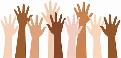 Clipart Multiracial Hands Raised