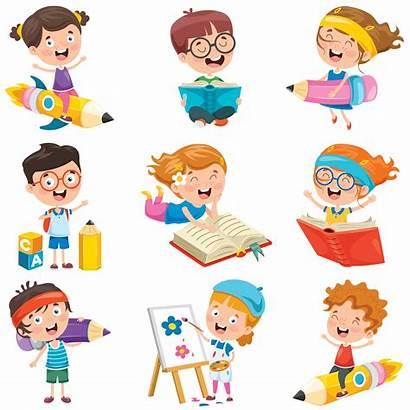Doing Activities Fun Cartoon Various Characters Clipart