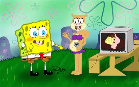 Spongebob And Sandy, Look At The Twins! By Iedasb -- Fur