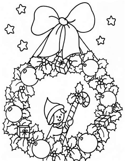 Krans Kleurplaat by Kleurplaten Kerst Krans