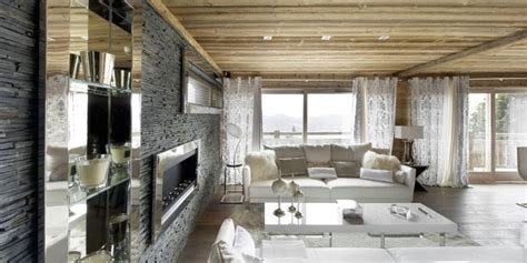 corner cabinet lazy hi tech ski chalet in courchevel modern house