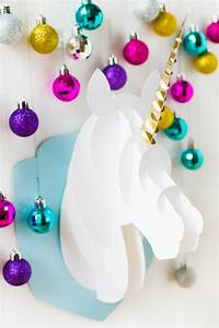 DIY 3D PAPERCRAFT UNICORN HEAD Bespoke-Bride: Wedding Blog